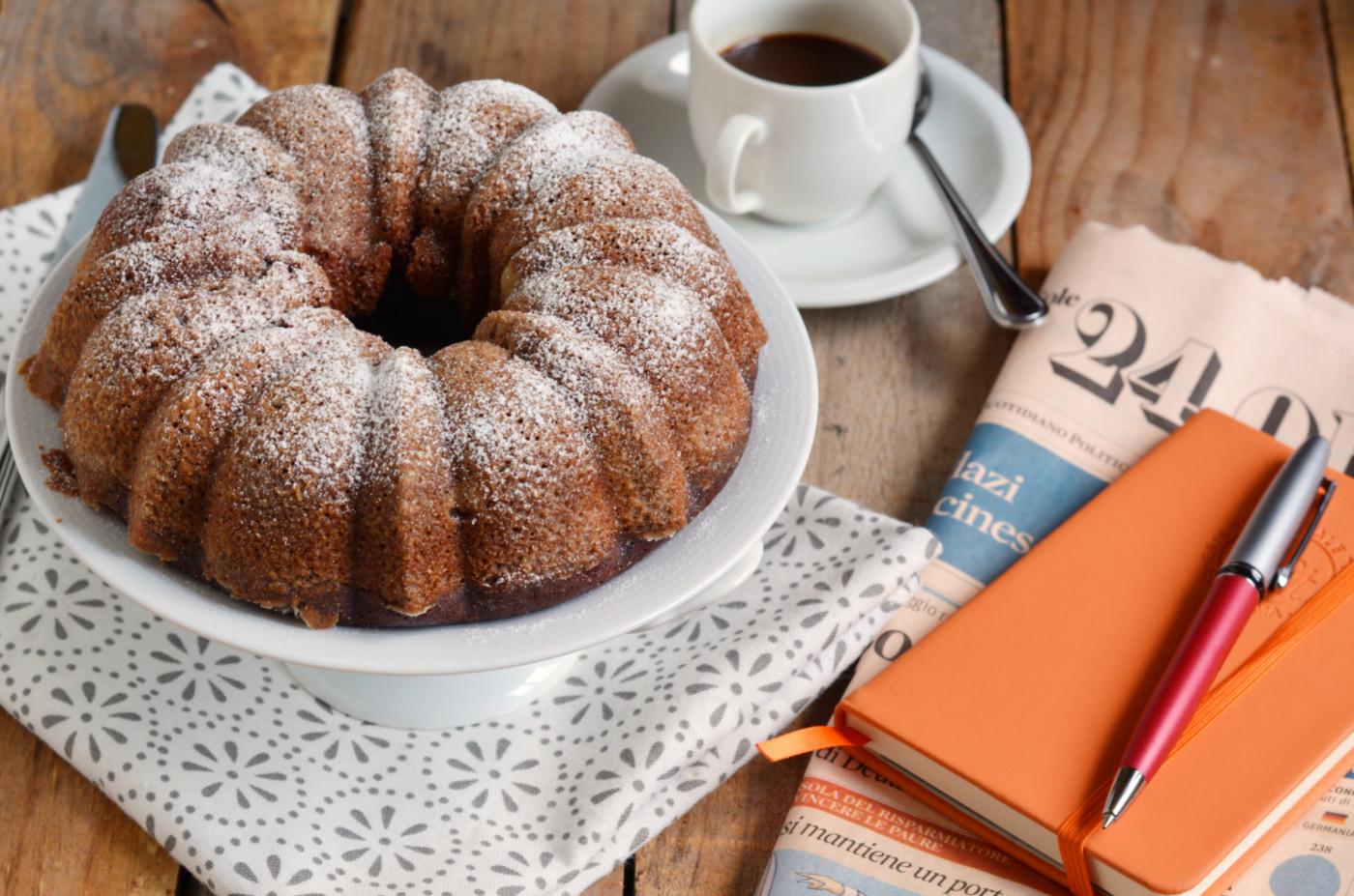 Ciambella al cacao e caffè